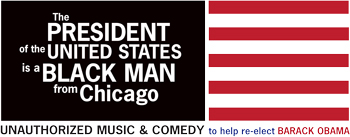 The President of the United States is a Black Man from Chicago logo